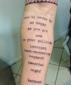Kerouac tattoo
